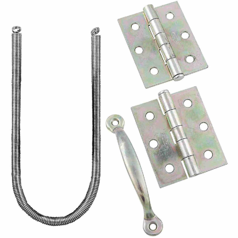 National Zinc 2-Hinge Screen Door Kit Image 1