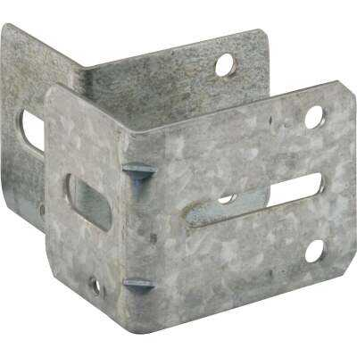 Prime-Line 2-1/4 In. & 2-3/4 In. Steel Track Brackets (2-Count)